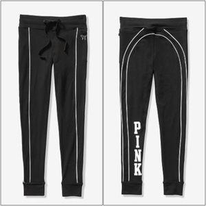 VS PINK COTTON CAMPUS LEGGINGS ~ L